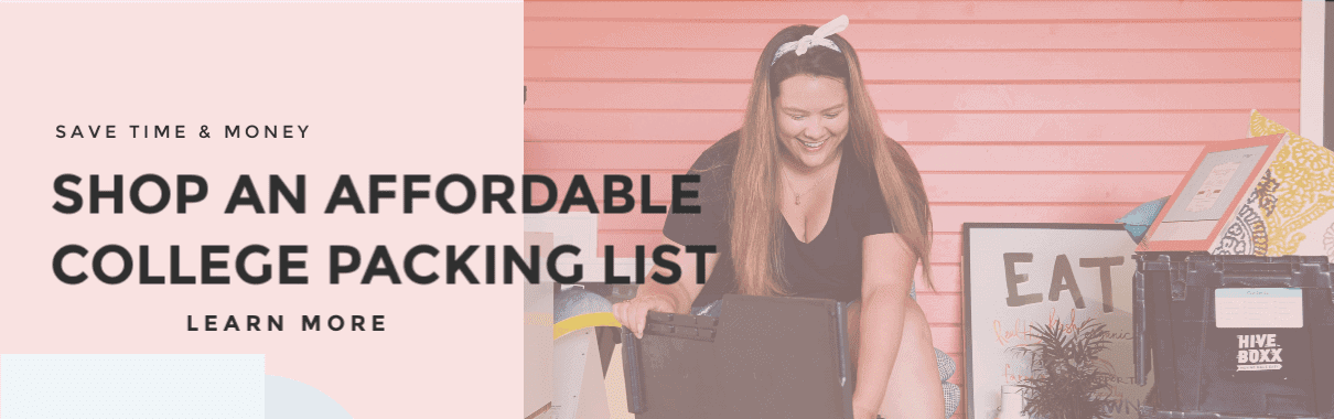 The Affordable College Packing List Where You Spend $500 or less