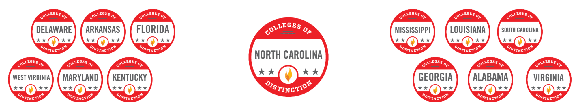 The Best Colleges of Distinction in the Southeast Region