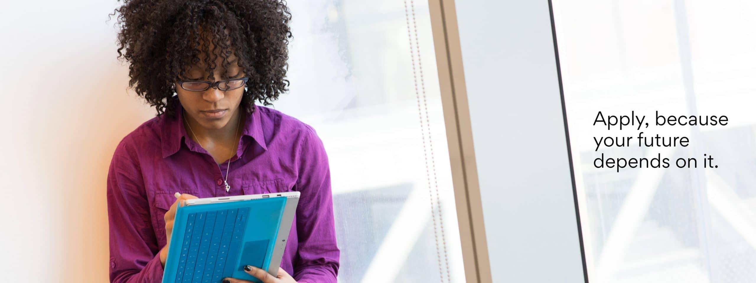 Black Student Applying to Scholarships