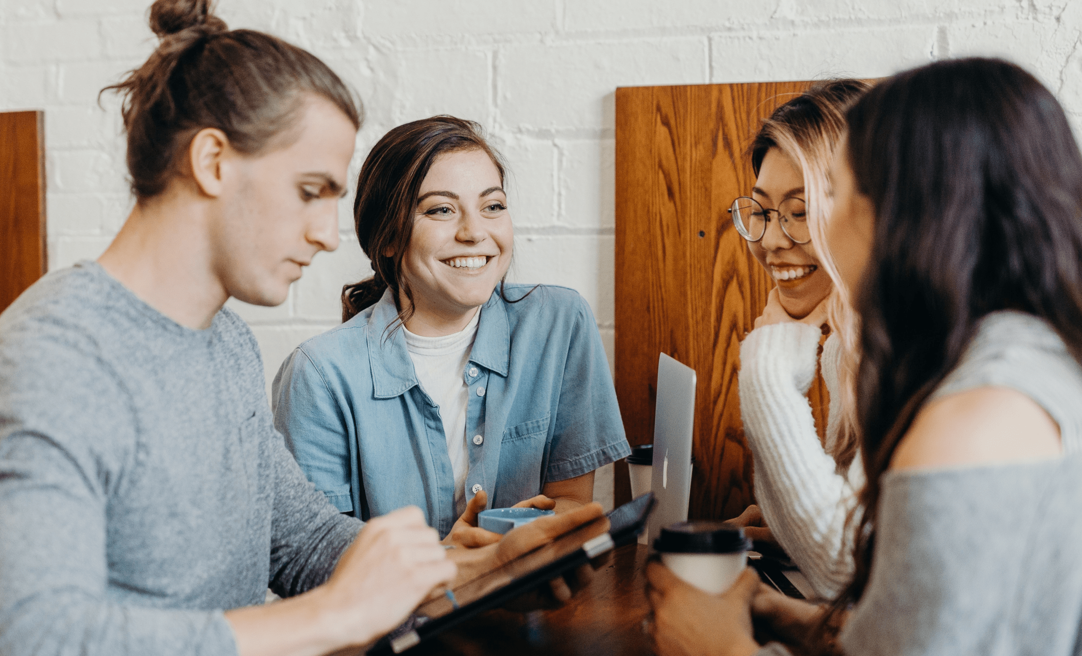 College Students Socializing & Connecting After Class