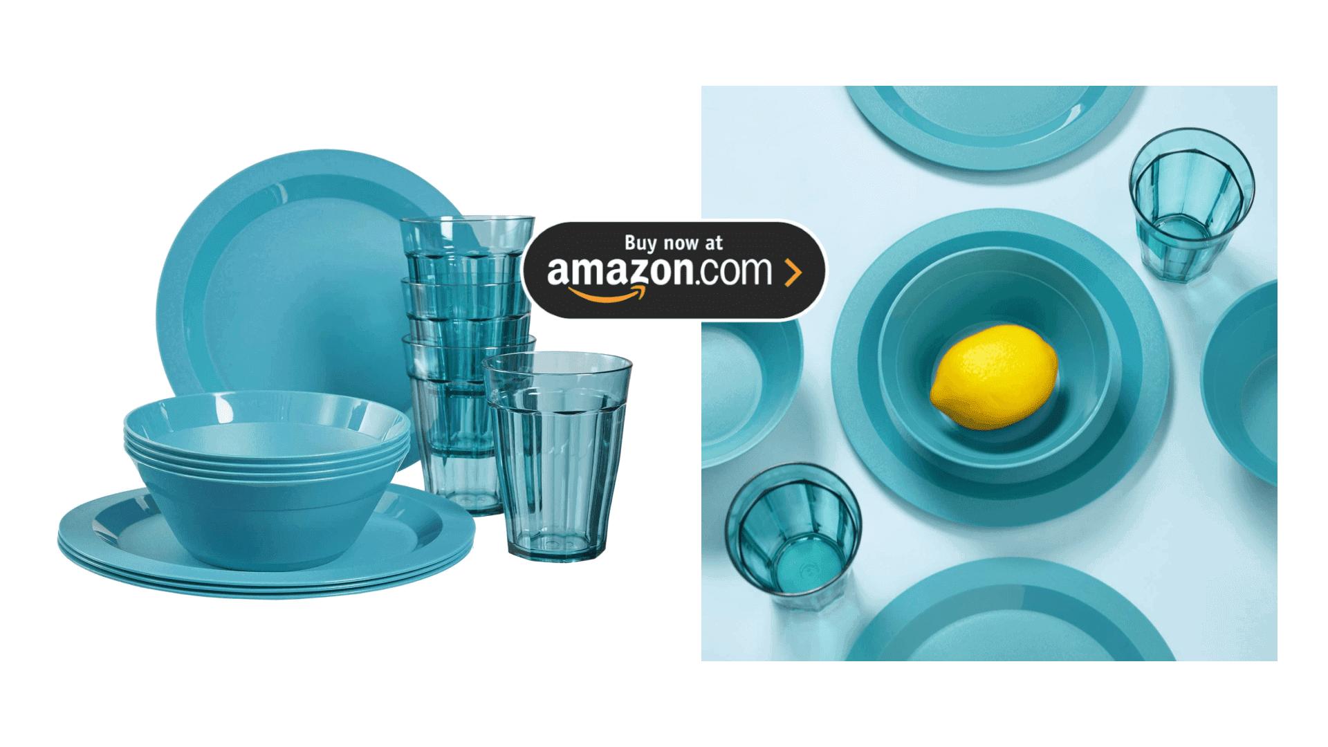 Plastic Plate, Bowl and Tumbler Dinnerware